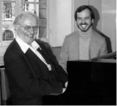 With Olivier Messiaen at the Paris Conservatory, Salle Gounod, 1977